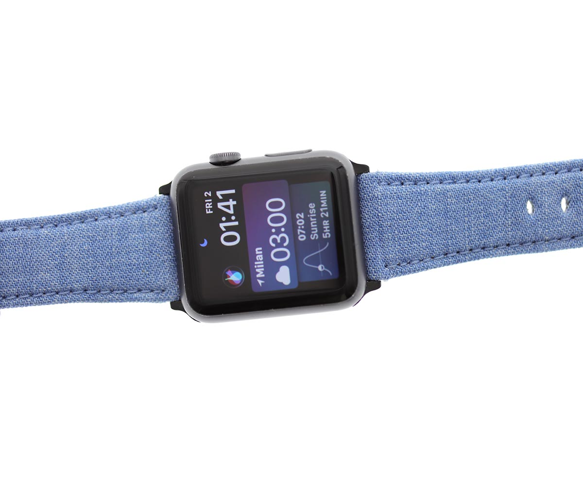 California Light Blue Japanese Kurabo® Denim Strap for Apple Watch All Series All sizes