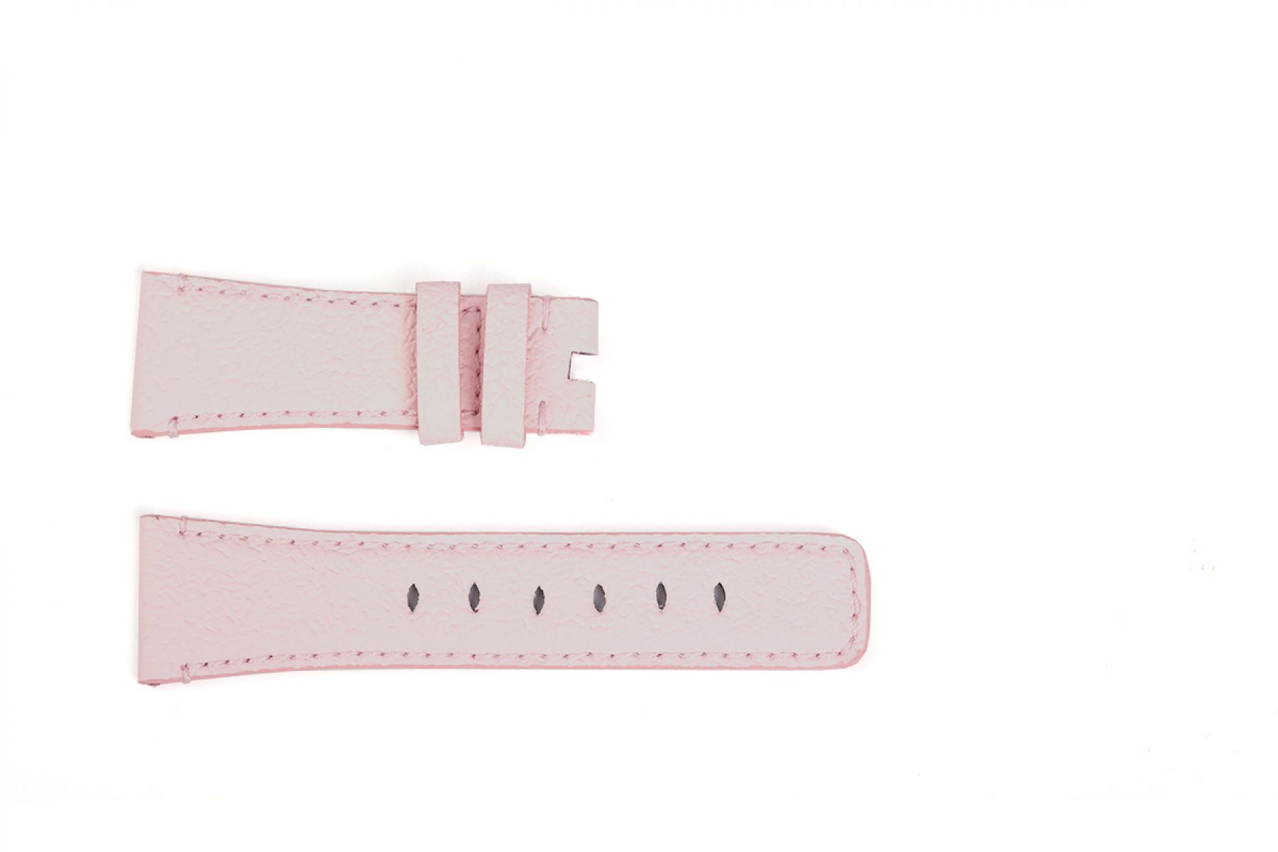 Band for Tiny Wrist (Apple Watch 38mm, 40mm) in FLAMINGO PINK Textured Vegan Leather. Kids Collection