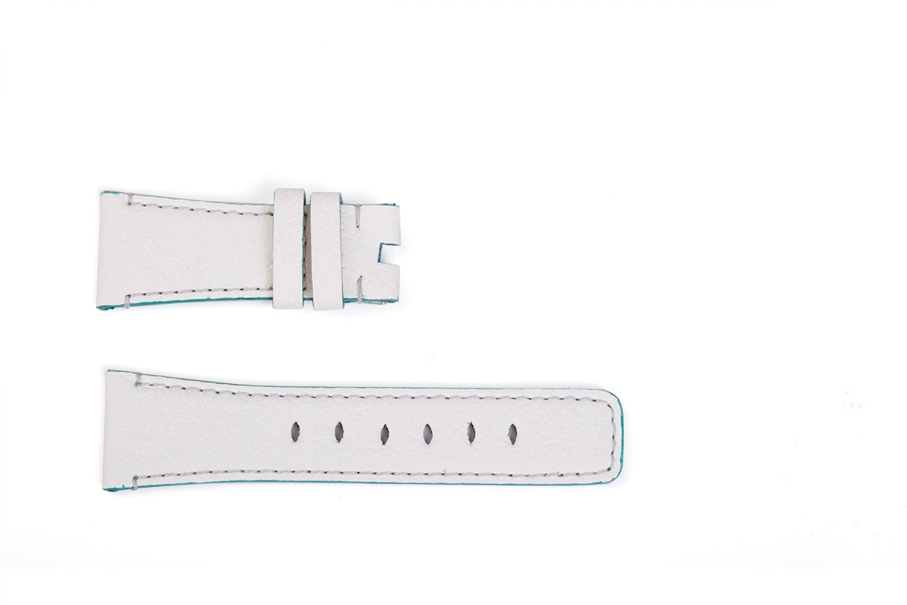 Band for Tiny Wrist (Apple Watch 38mm, 40mm) in WHITE Textured Vegan Leather. Kids Collection