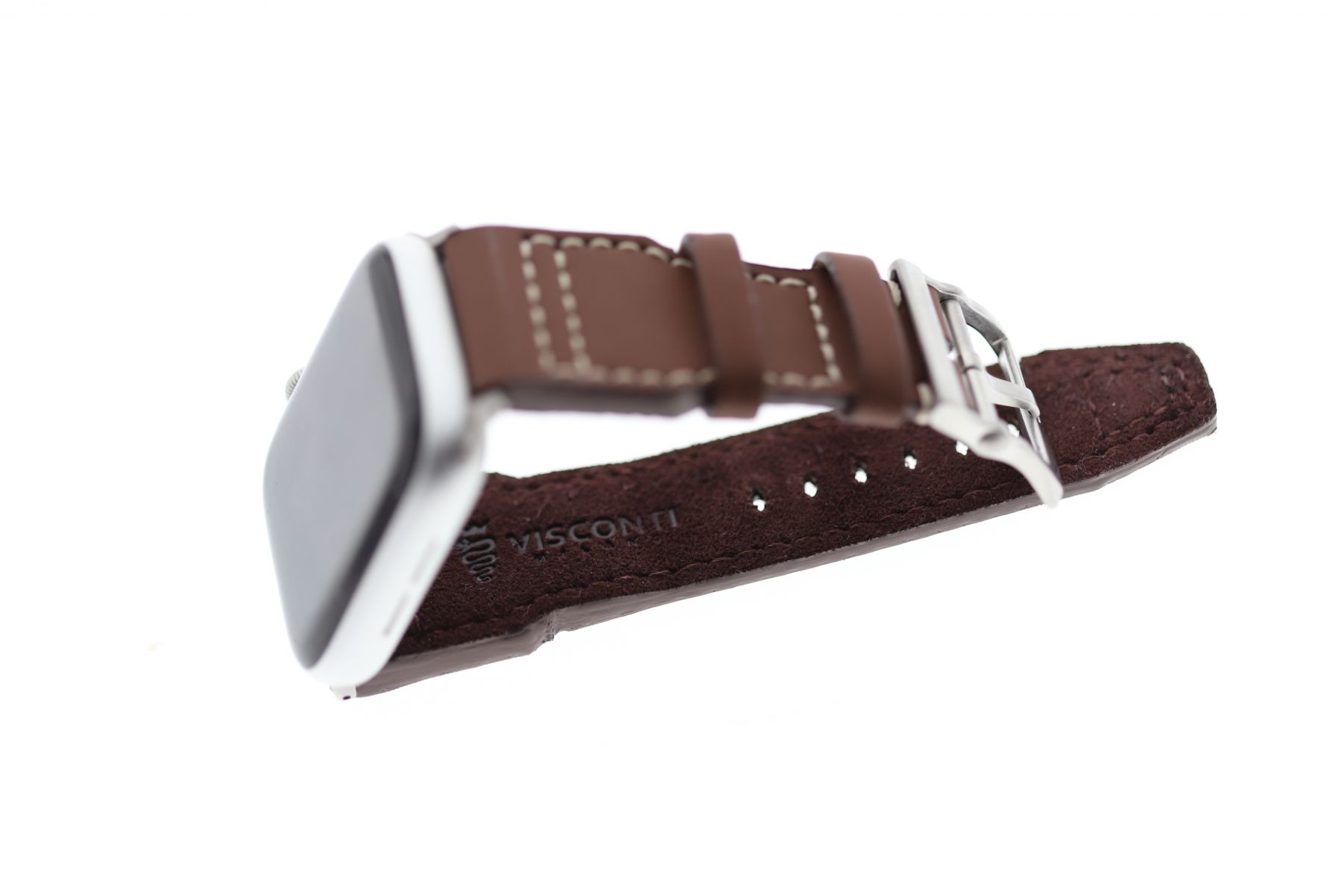Smooth Vegan Leather Strap (Apple Watch All Series) / SCUBA BROWN