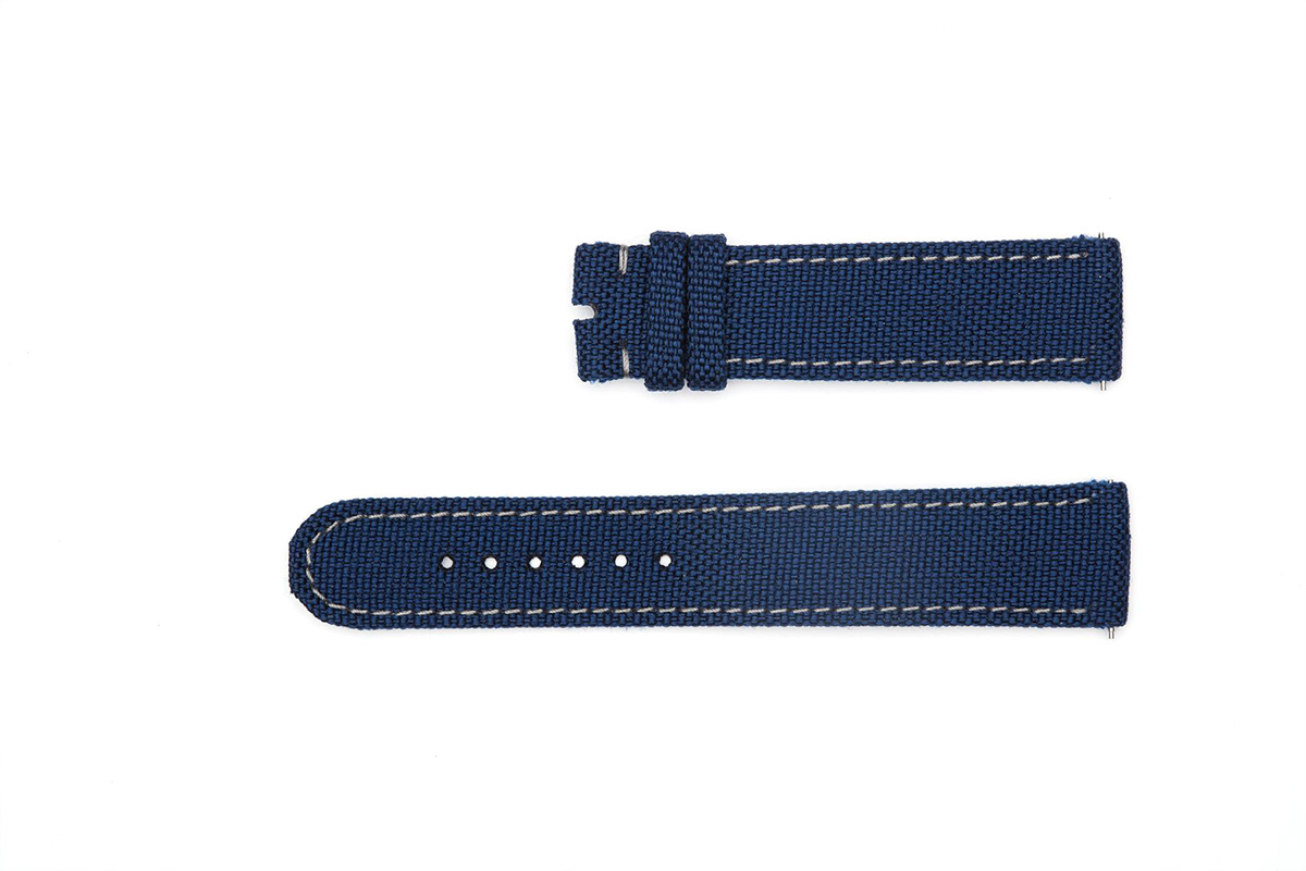 Blue Cordura strap 19mm Grand Seiko style