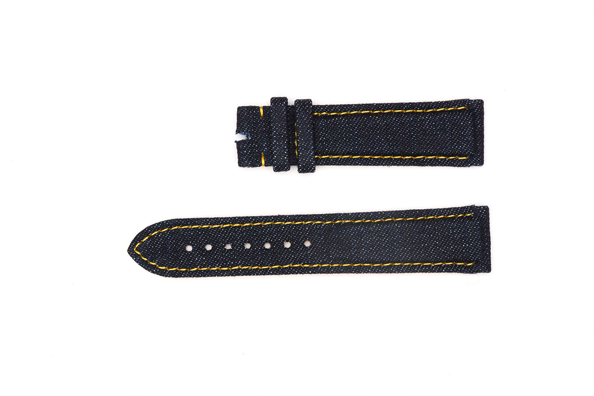 Dark Blue Japanese Denim strap 20mm Grand Seiko style