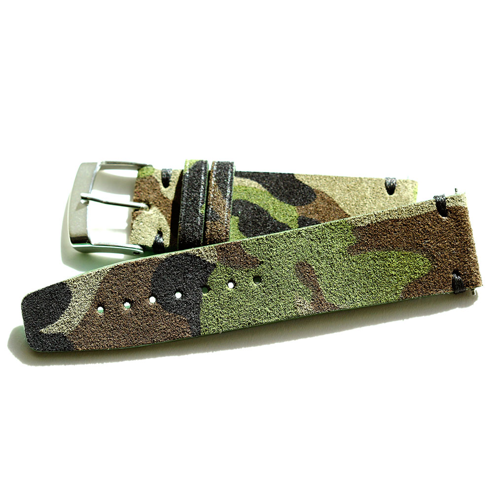 Camouflage / Mimetic Suede leather strap
