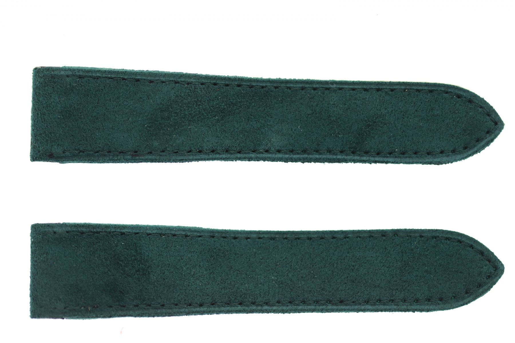Emerald Green Alcantara strap for Cartier Santos 100 XL