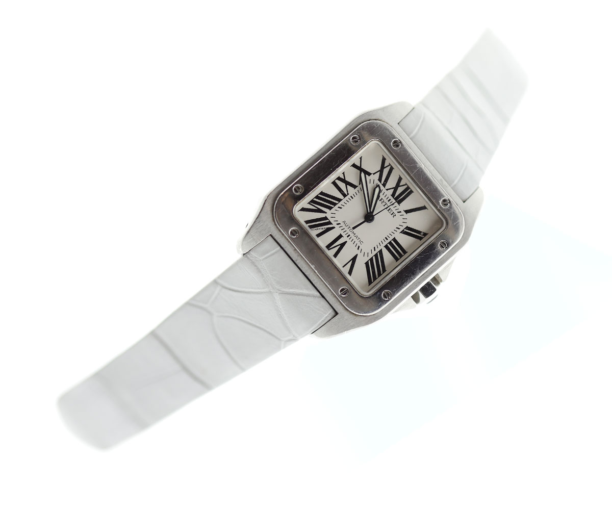 Ice Champagne Strap 23mm in Alligator Leather for Cartier Santos 100 XL