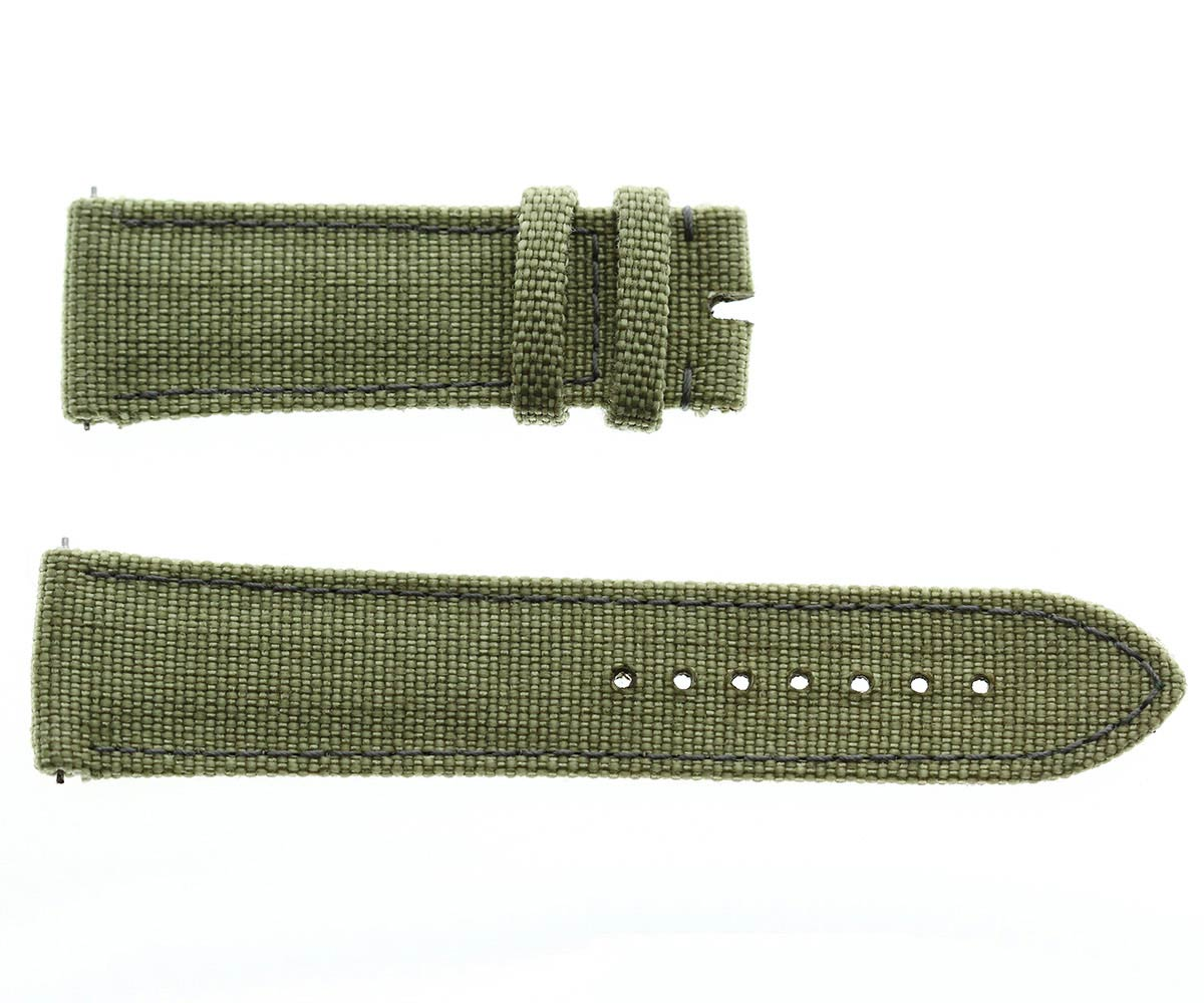 Military Green Khaki Cordura® replacement band 22mm Quick release. Vegan friendly