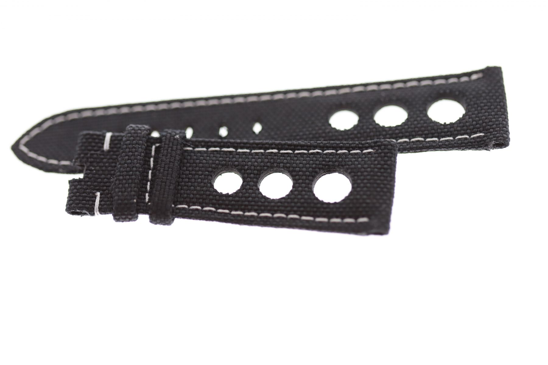 Black Cordura Strap 23mm Blancpain Fifty Fathoms Perforated style