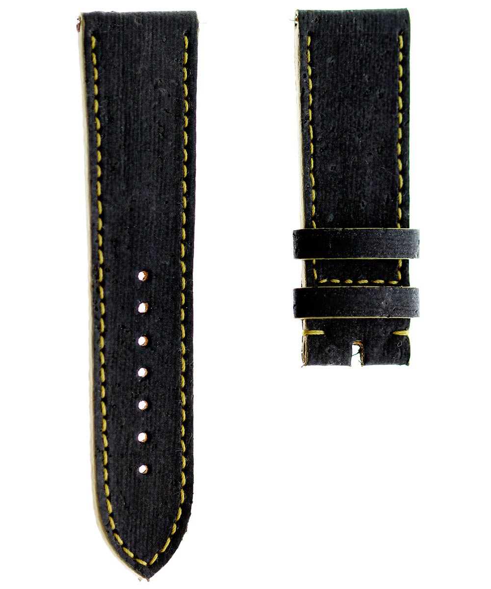 Black Natural Portuguese Cork strap 22mm General style