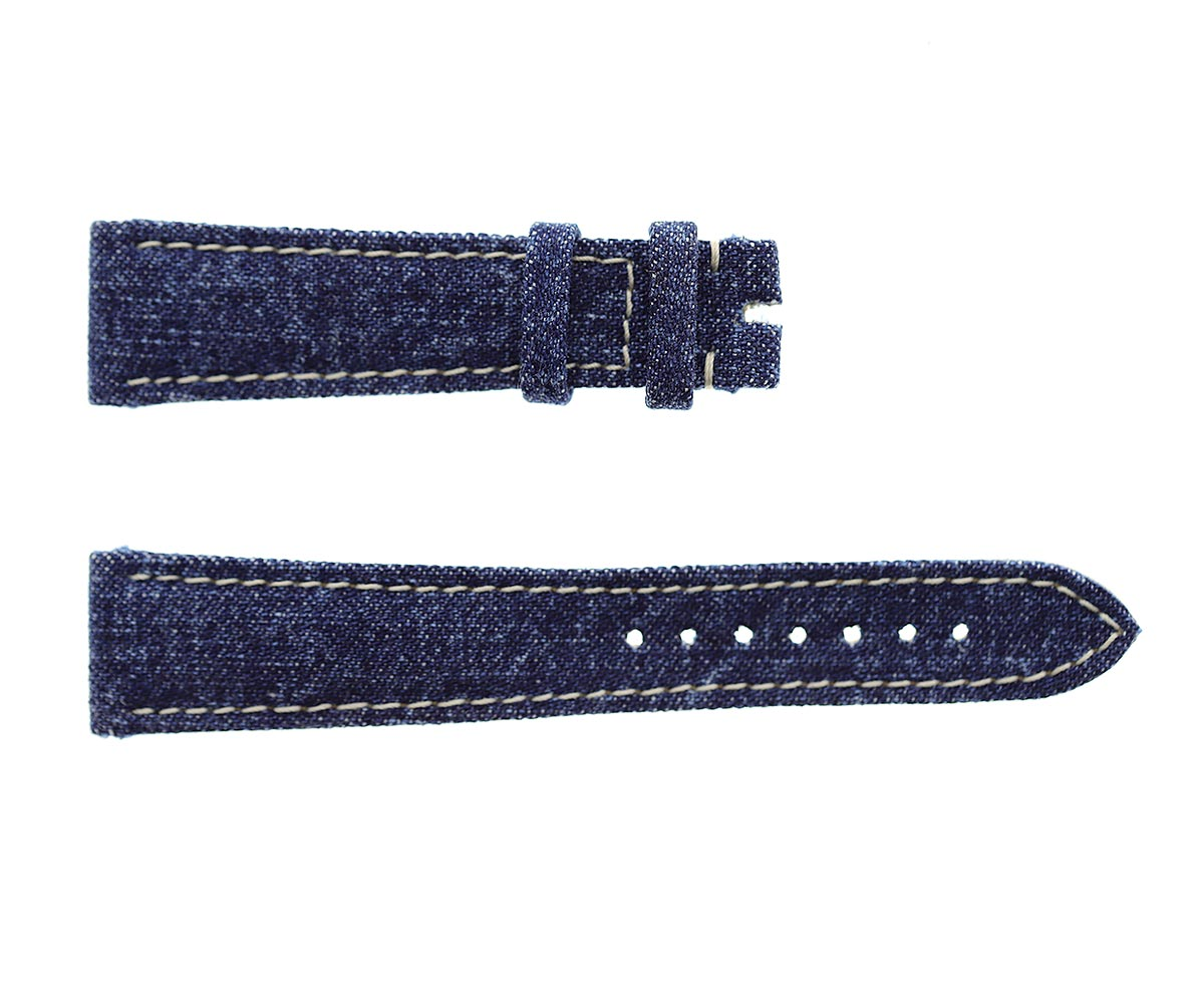 Japanese Denim Watch strap 20mm / Boston / Beige Stitching