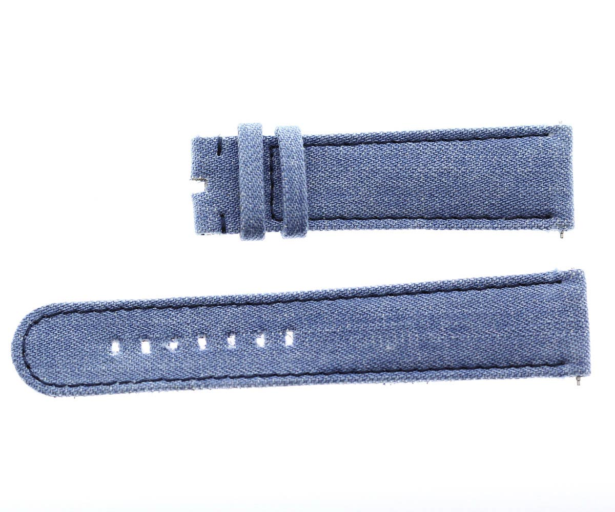 Japanese Denim strap 22mm / LAMBADA / Blue Stitching / Quick release. Large wrist