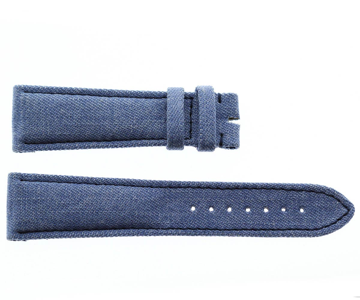 Japanese Denim Watch strap 22mm / Franck Muller style / Violet Stitching