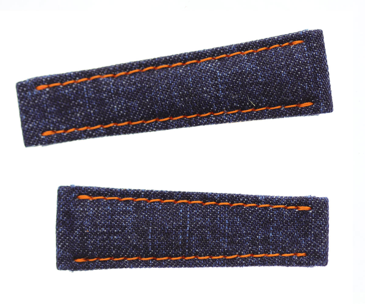 Japanese Denim strap Rolex Daytona style 20mm / Orange stitching