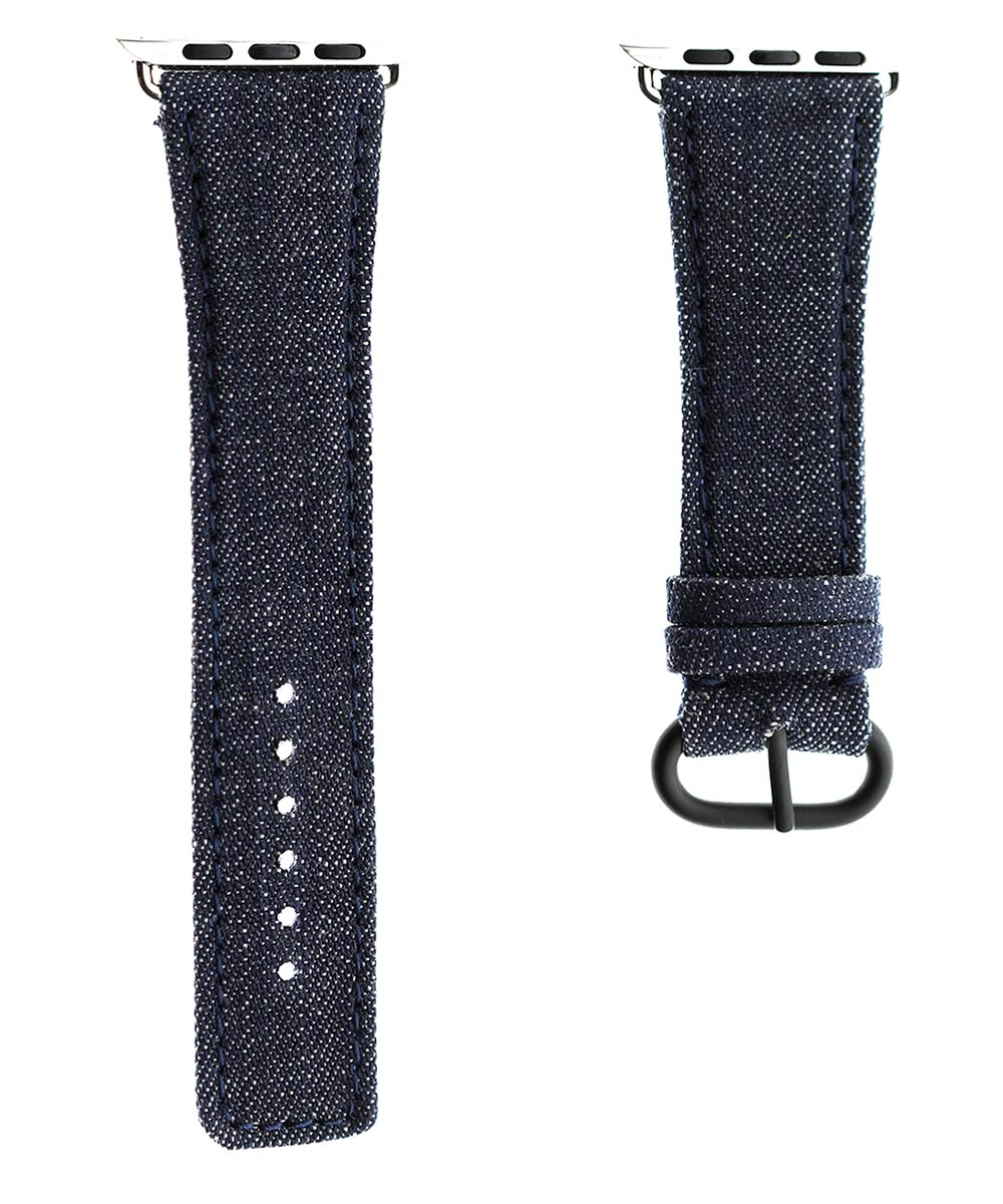 Japanese Denim Strap for 44mm, 42mm case (Apple Watch All Series) / TOKYO / BLUE STITCHING