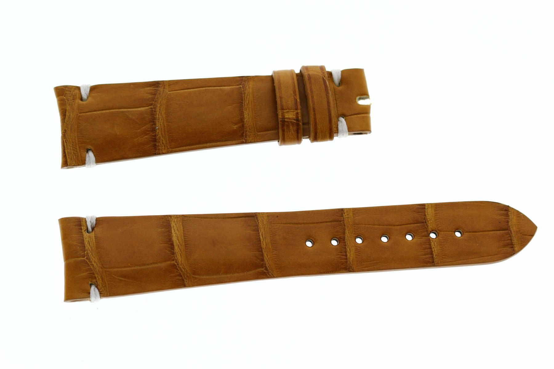 Honey Brown Matte Alligator leather strap 20mm F.P.Journe style