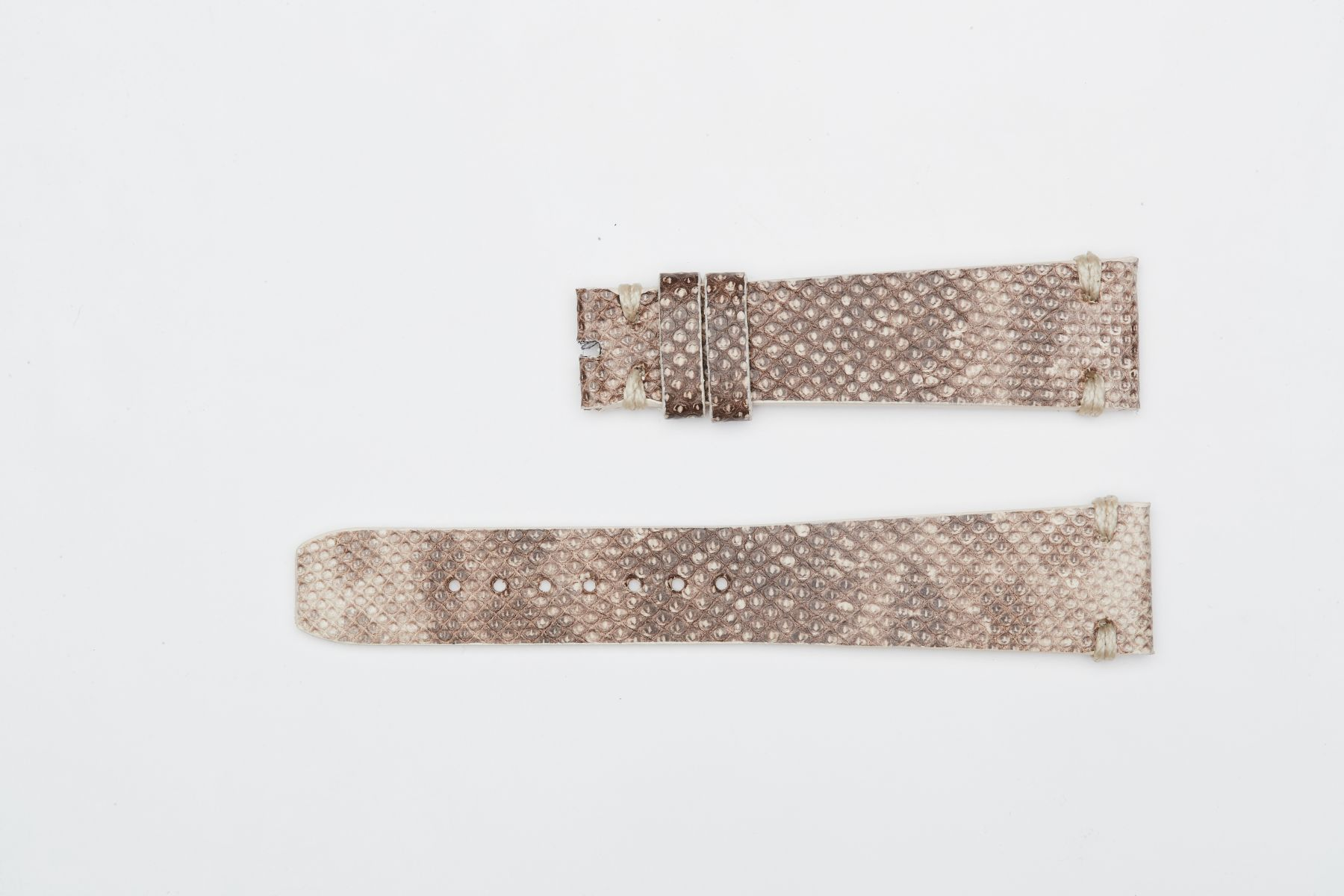 Beige Camouflage Karung Snake Leather strap 20mm