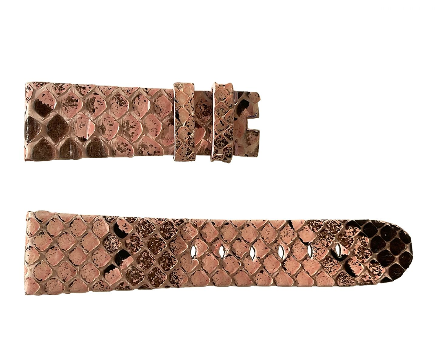 Pink Python Leather Strap 16mm, 18mm, 19mm, 20mm, 21mm, 22mm General style