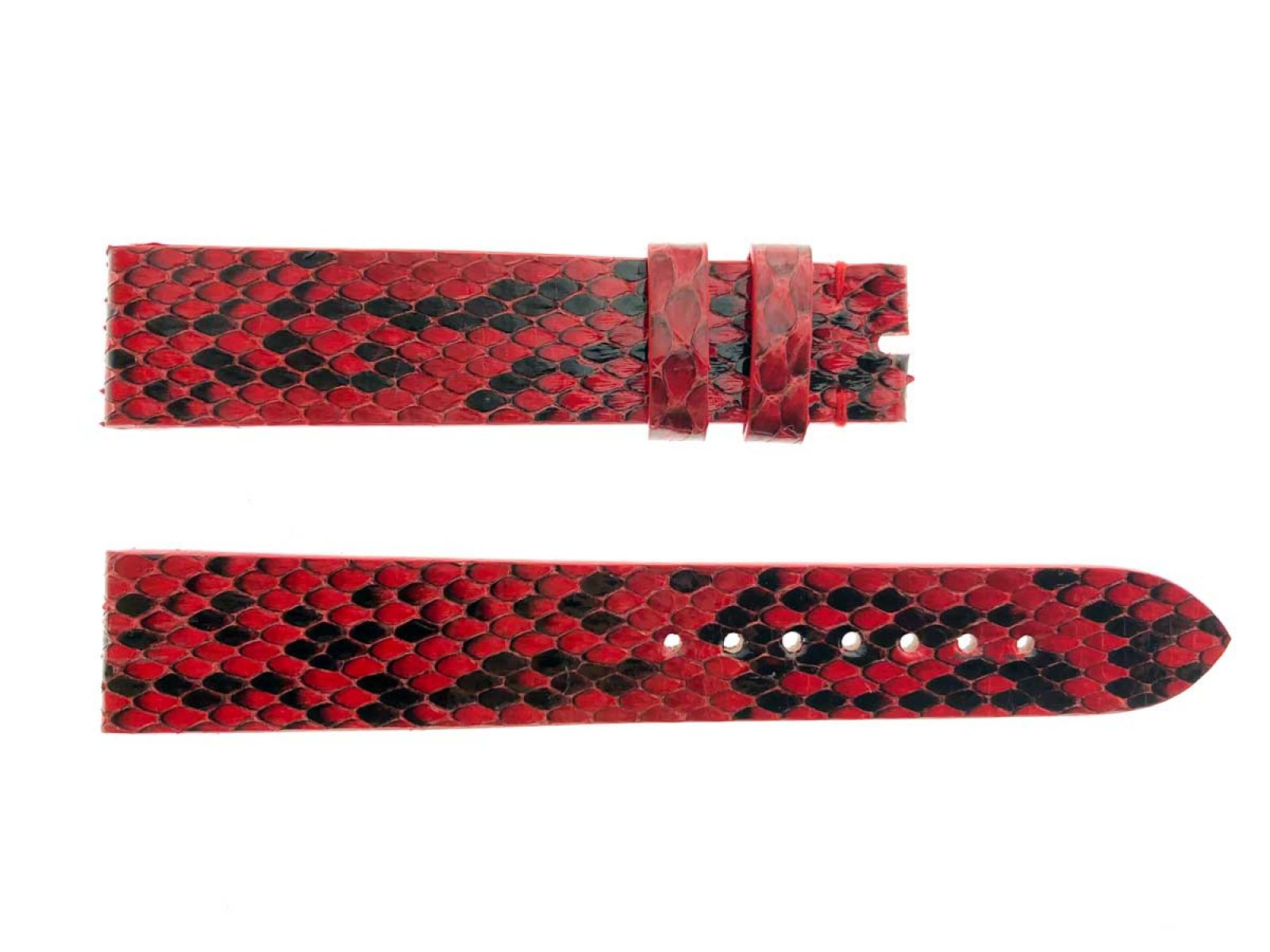 Red Gloss Python Leather Strap 16mm, 18mm, 19mm, 20mm, 21mm, 22mm General style