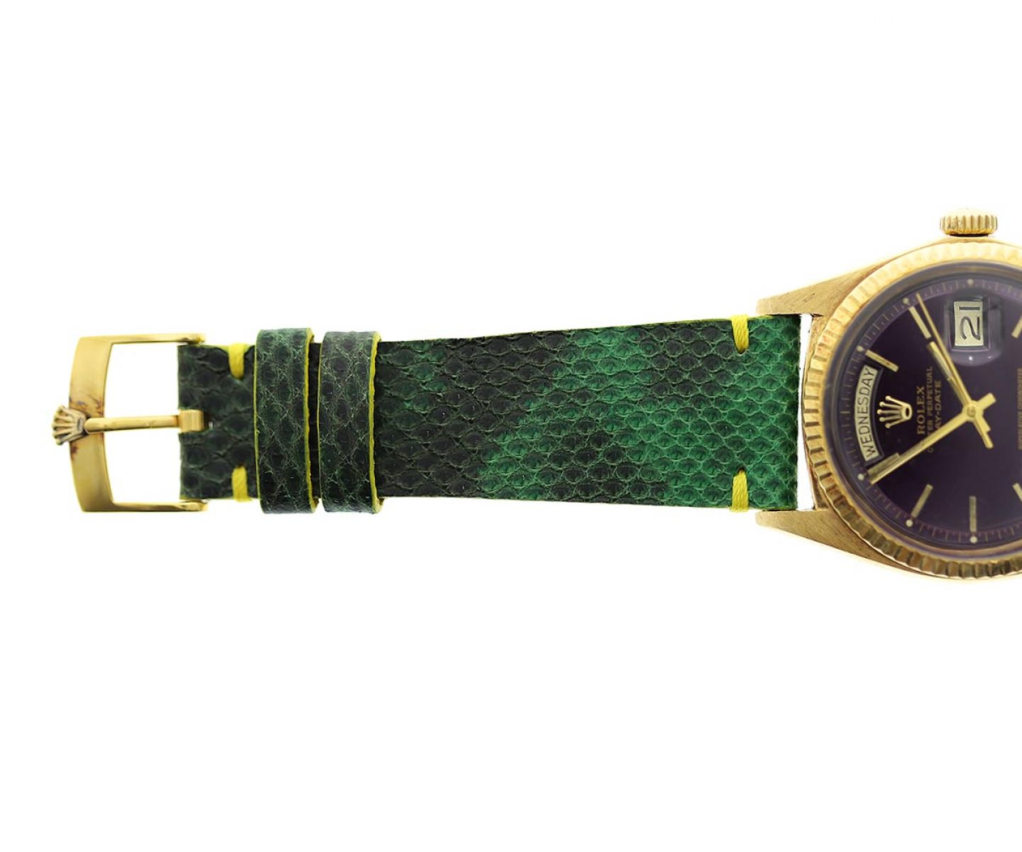 Green Exotic Karung Snake leather strap 20mm Rolex Daytona Style