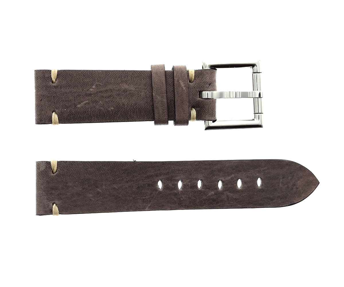 Strap 24mm in Sand Brown Kangaroo Leather with Fixed Buckle