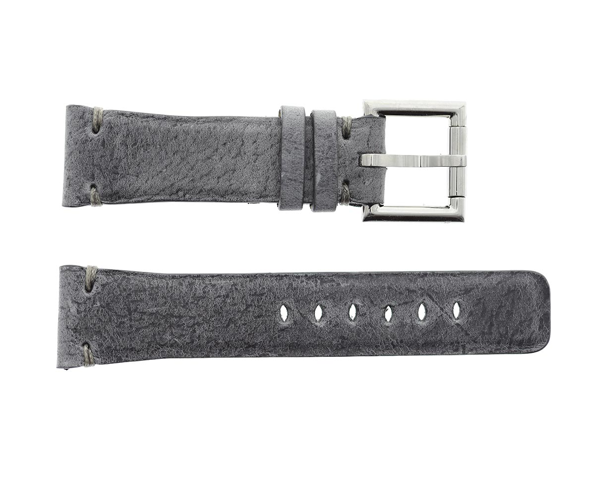 Strap 24mm in Blue Pale Mohawk Vintage Leather with Fixed Buckle