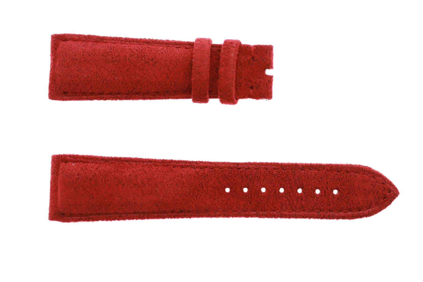 Paris Rouge Red Alcantara strap 22mm Franck Muller Casablanca style