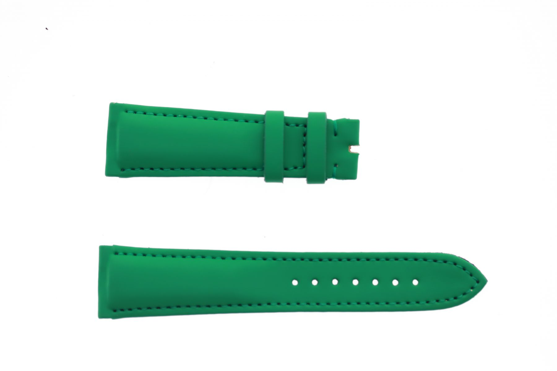 Jade Green Smooth Vegan leather strap 22mm Franck Muller Casablanca style