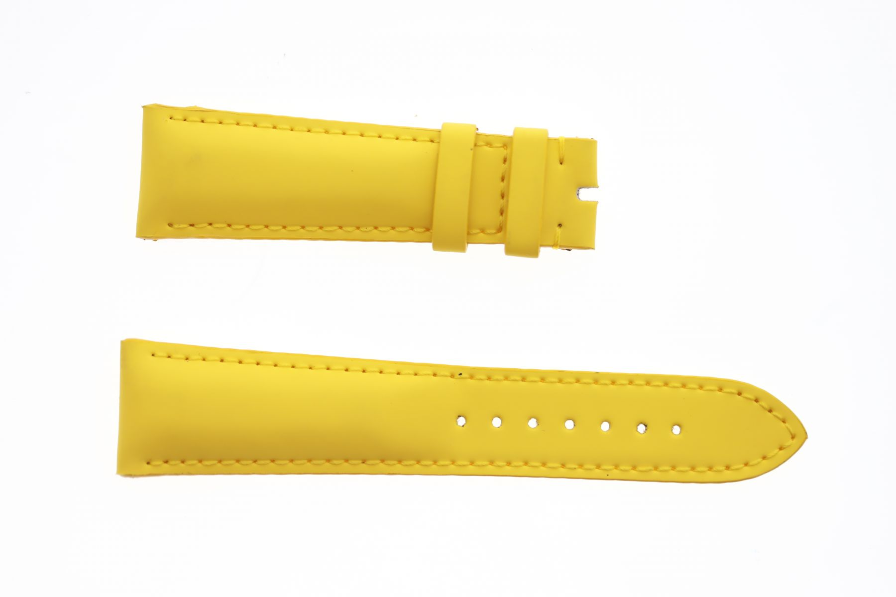 Lemon Yellow Smooth Vegan leather strap 22mm Franck Muller Casablanca style