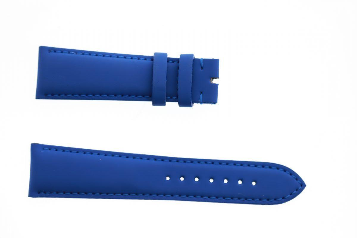 Sapphire Blue Smooth Vegan leather strap 22mm Franck Muller Casablanca style