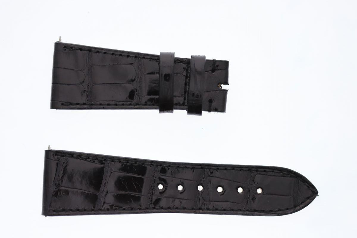 Black Gloss Alligator strap 26mm Franck Muller Master Square style