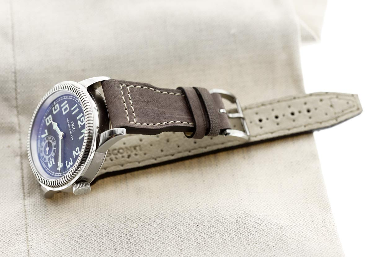 Custom Made Brown Kangaroo Leather strap for IWC Big Pilot watch