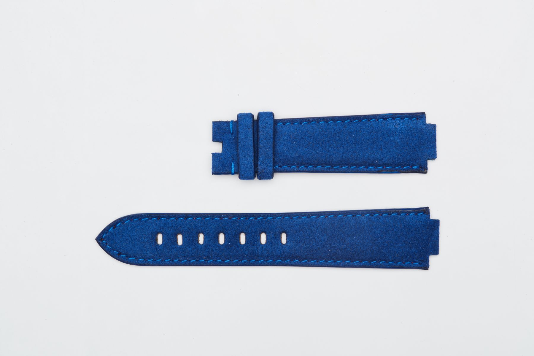 Baltic Blue Alcantara strap 21mm Louis Vuitton Tambour Automatic Regatta style