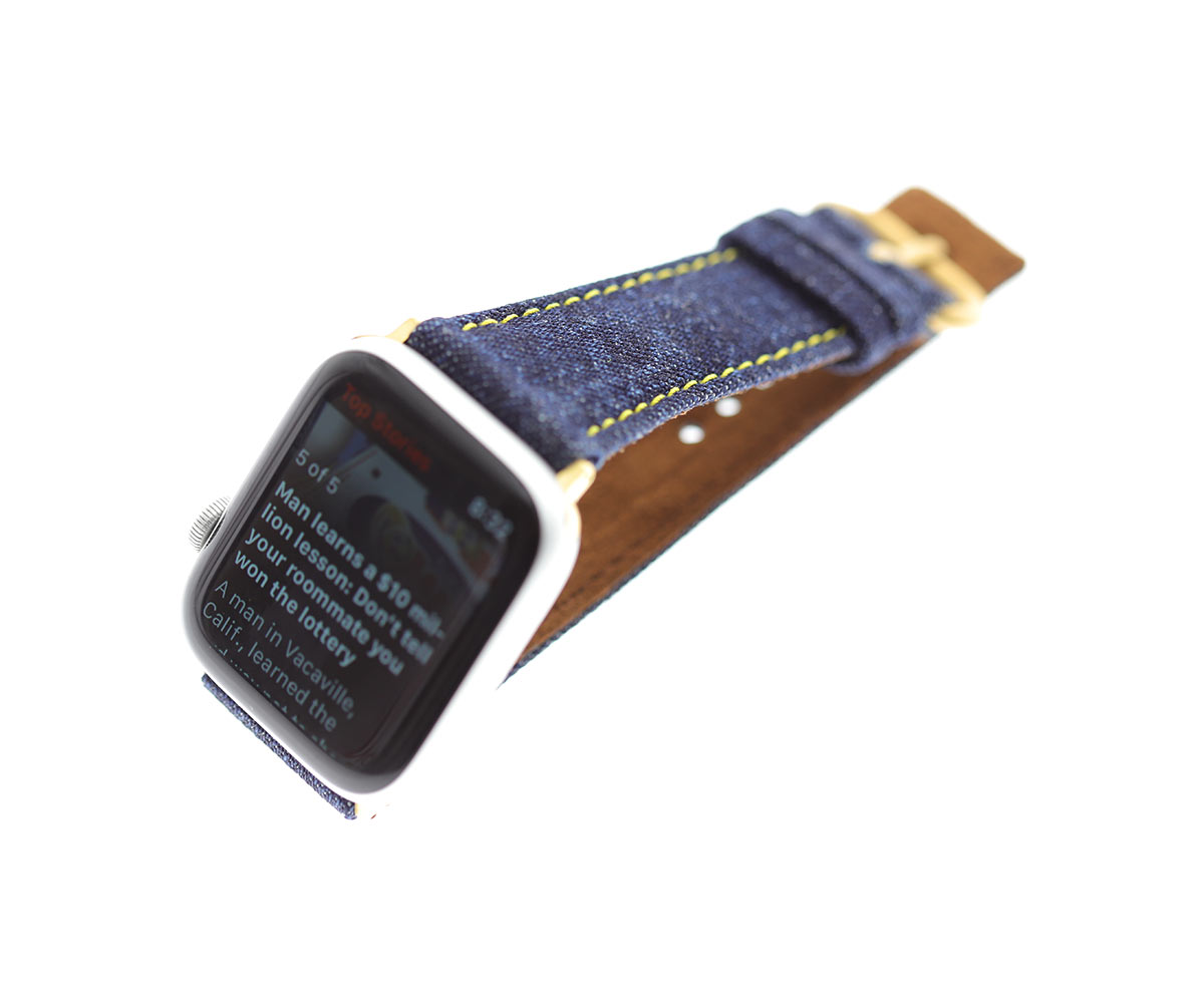 Japanese Denim Strap (Apple Watch All Series) / COMMANDO BLUE