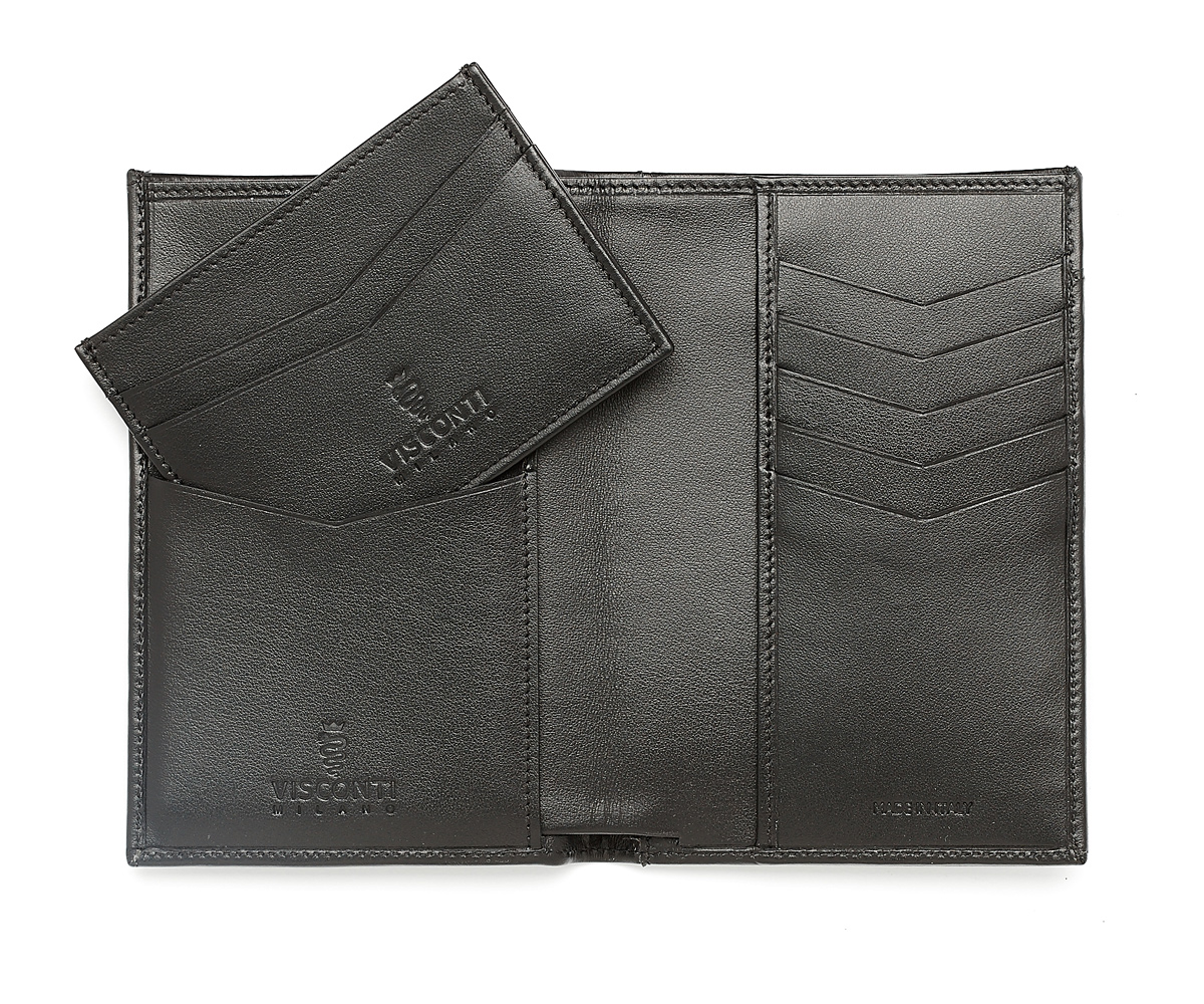 Traveler Wallet in Superior Quality Calf leather with card holder