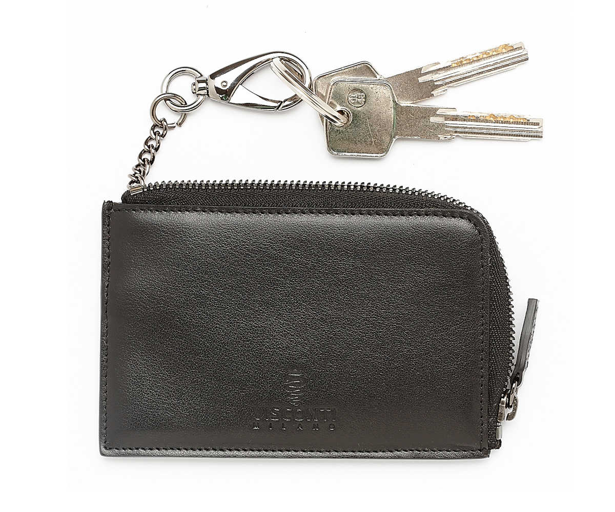 Italian Made MILANO MY KEY RING HOLDER In Superior Calf Leather by Visconti Milano