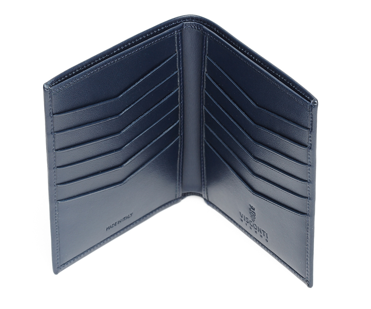Twelve Cards Wallet in Superior Quality Calf leather