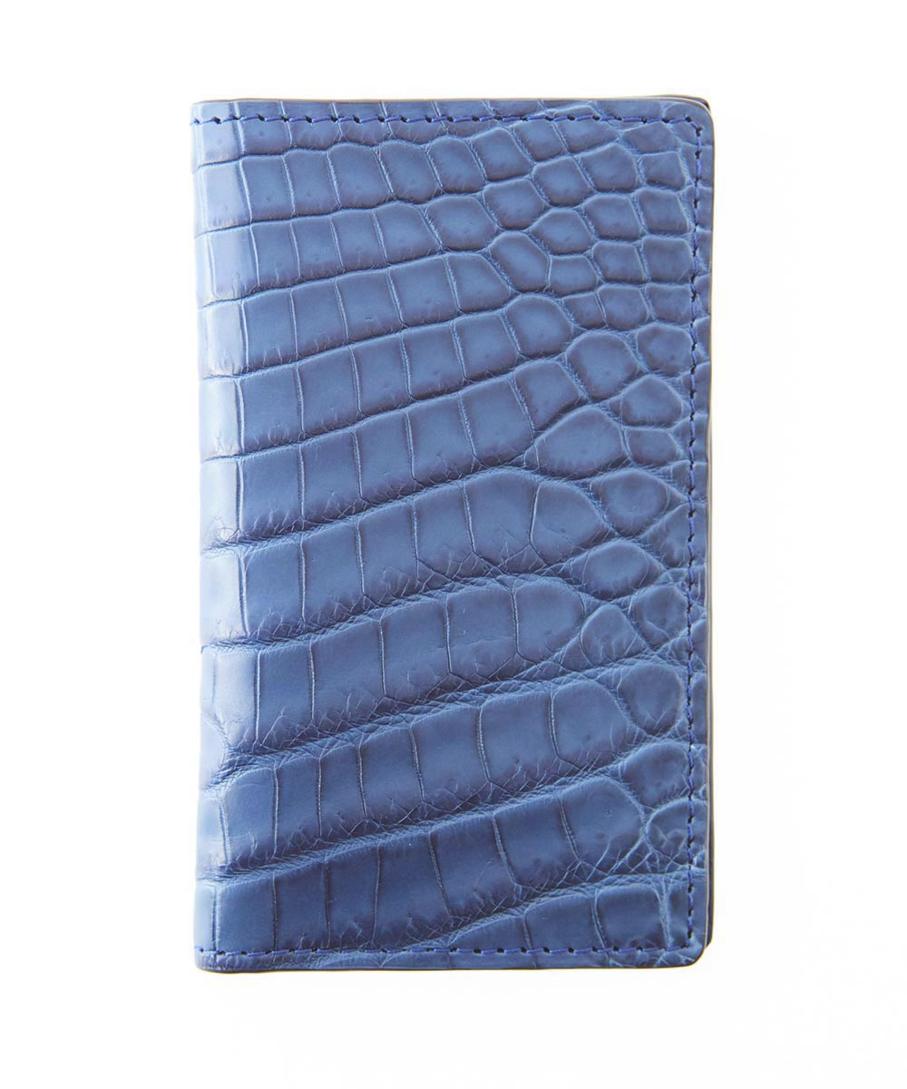 Exotic Classic Cards & Bills Wallet in Genuine Blue Jeans Alligator Leather