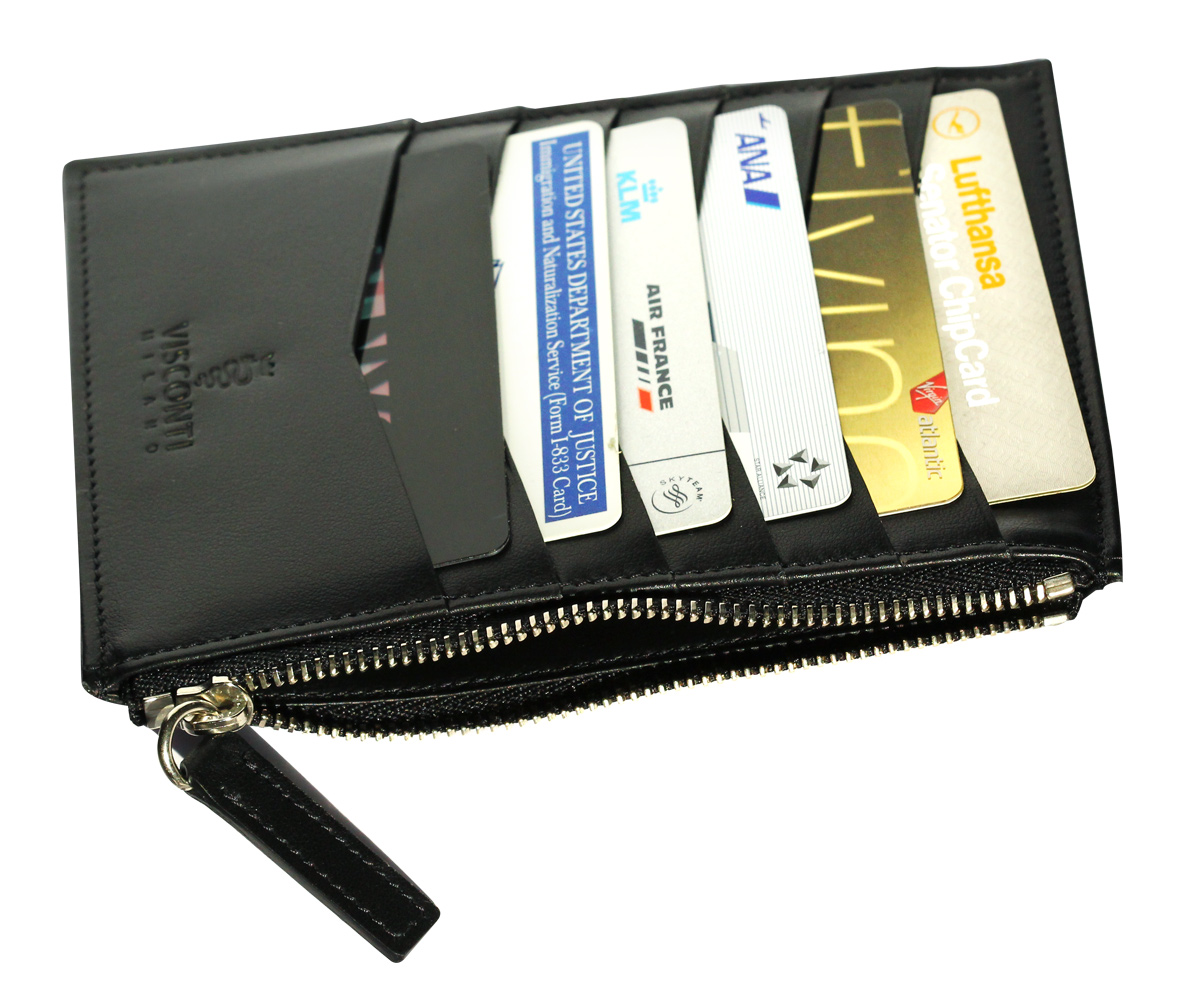 Milano Frequent Flyer Passport & Cards Holder in Calf Leather