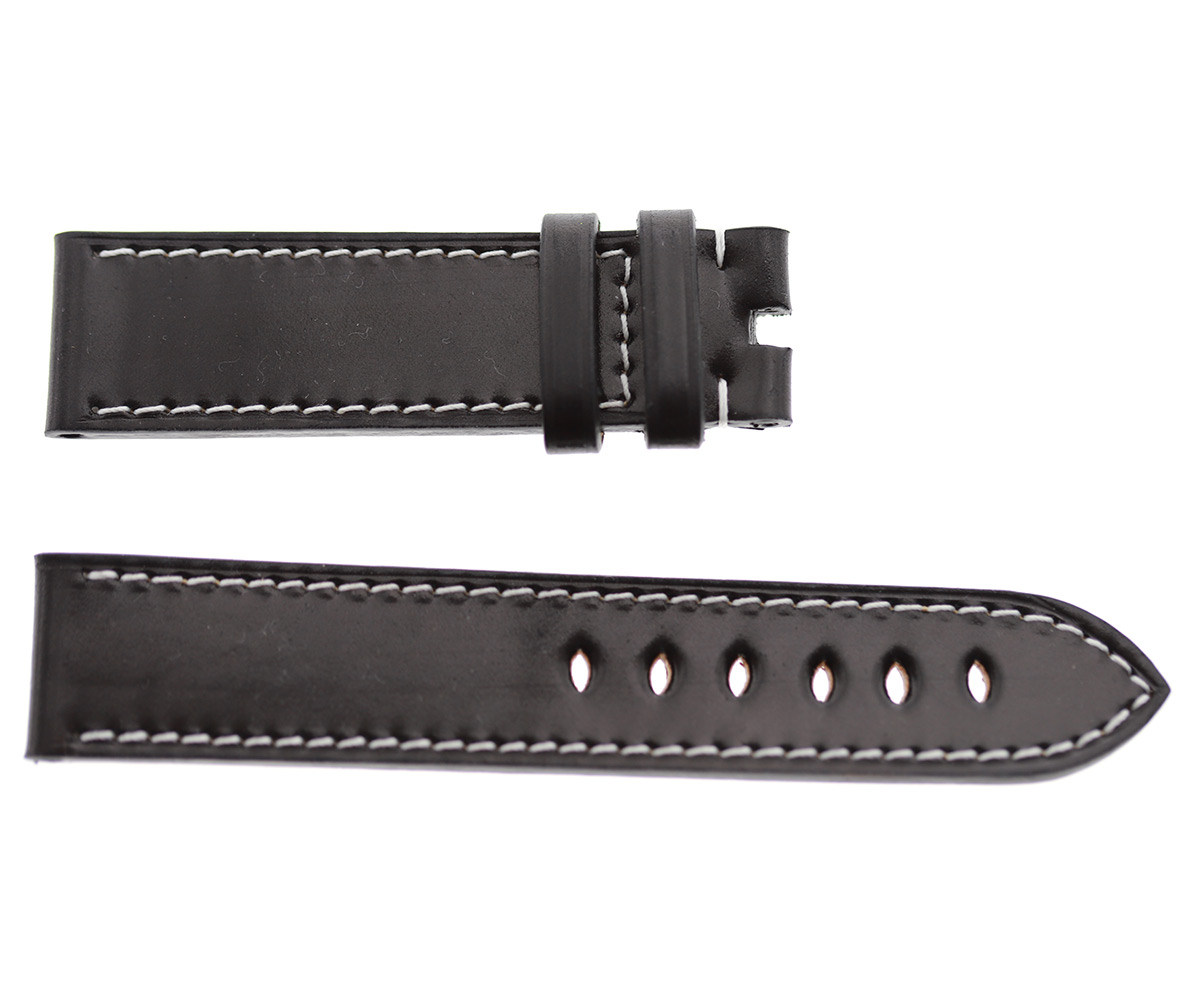 Montblanc Time Walker style watch strap 21mm in Shell Cordovan Leather