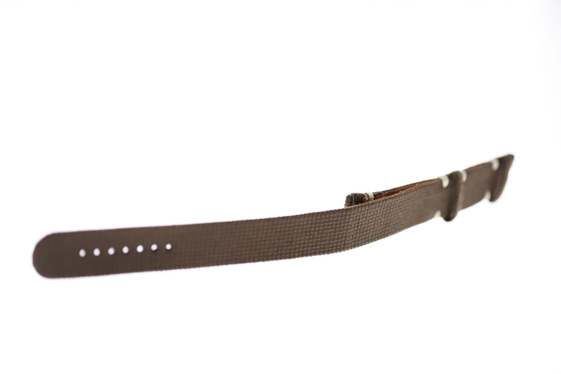 NATO 20mm two pieces band in Brown Cordura fabric