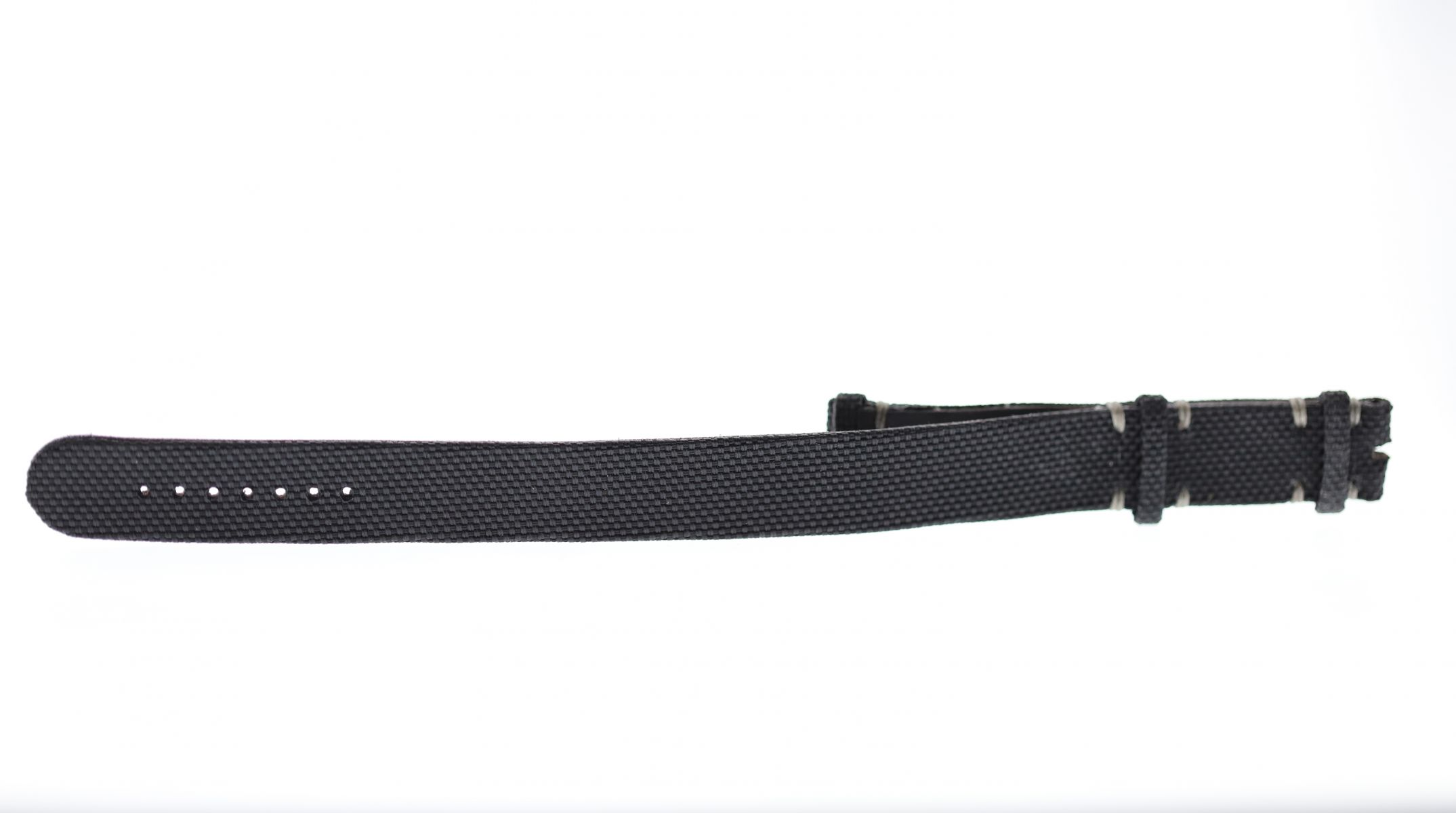 NATO 20mm two pieces band in Black Cordura fabric