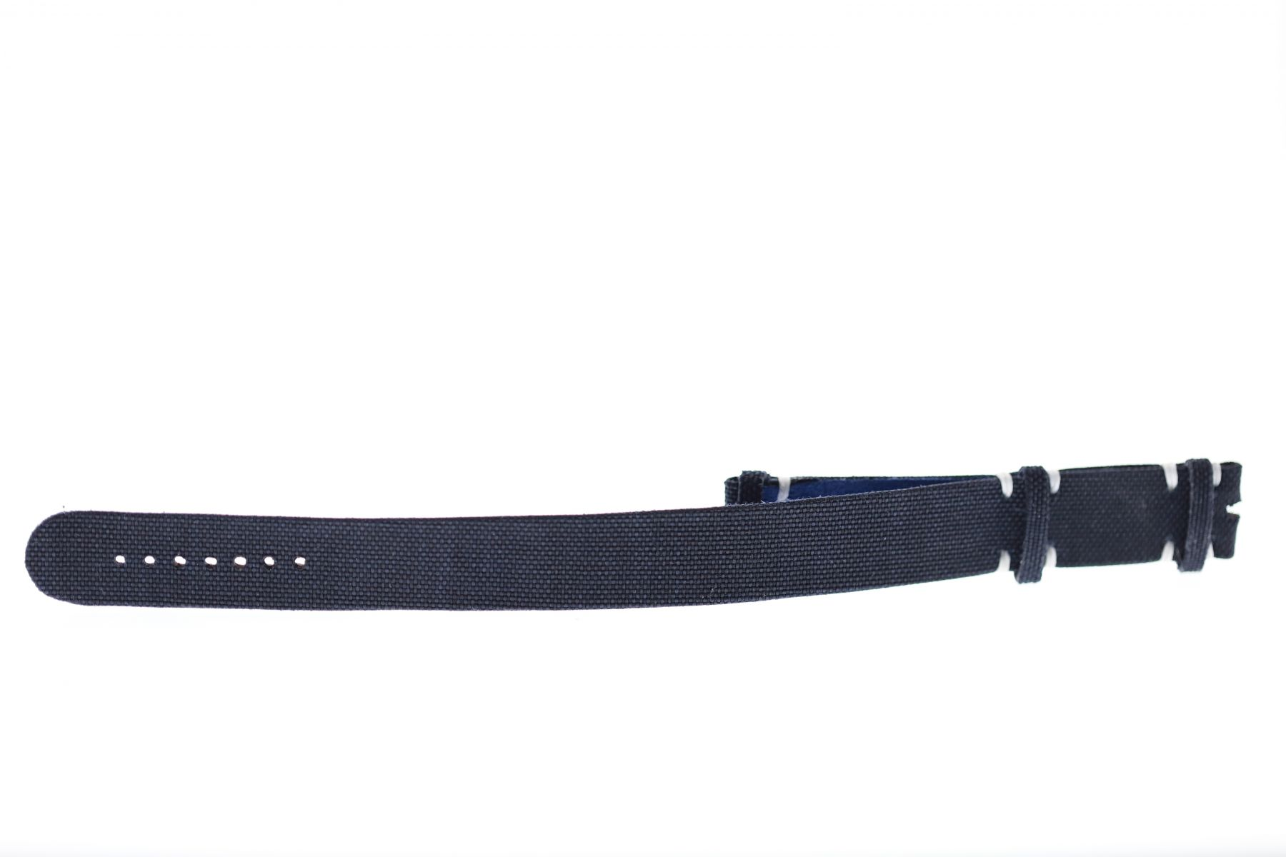 NATO 20mm two pieces band in Blue Cordura fabric