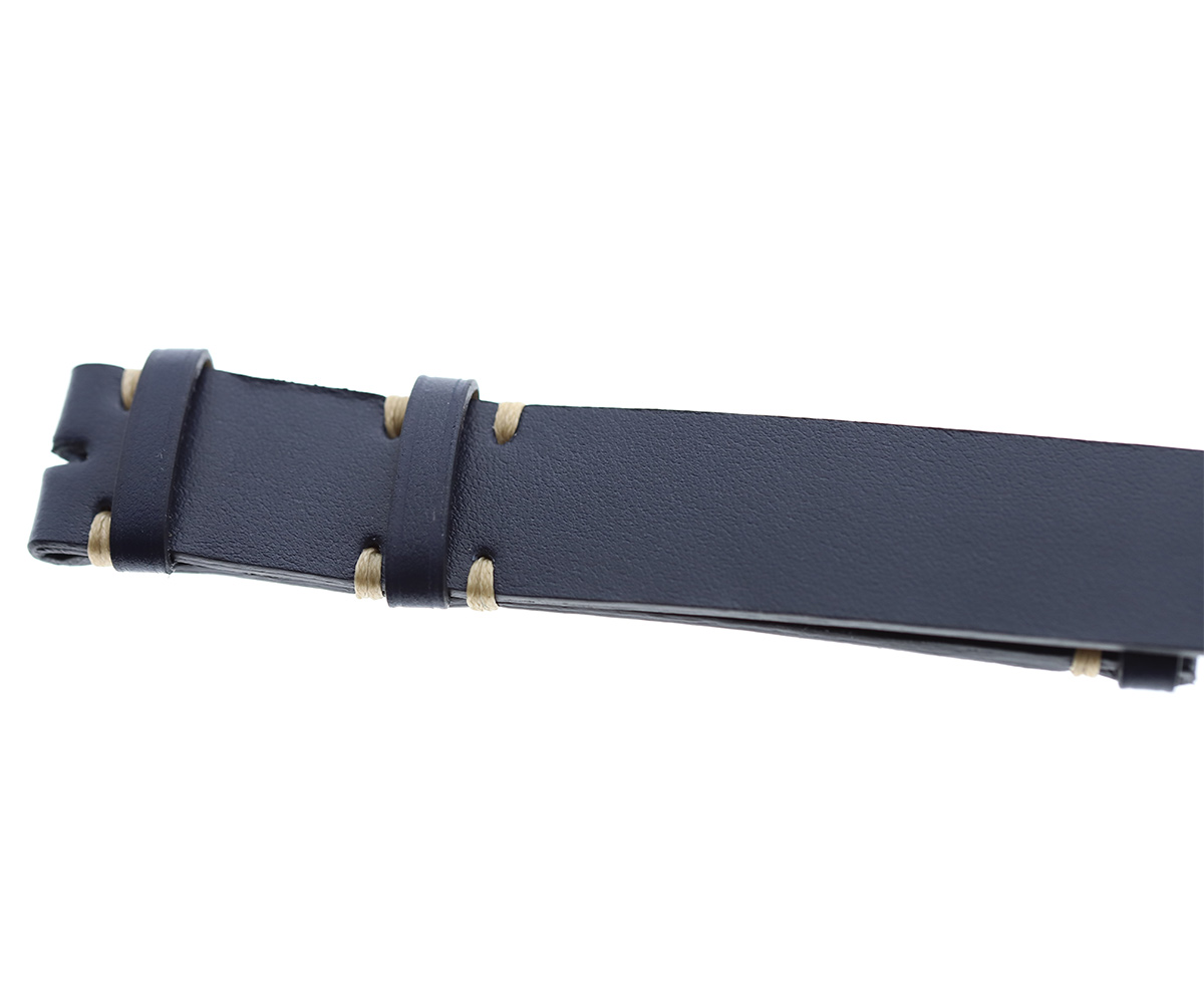NATO custom wrist watch band in Blue Italian calf leather / Regular size
