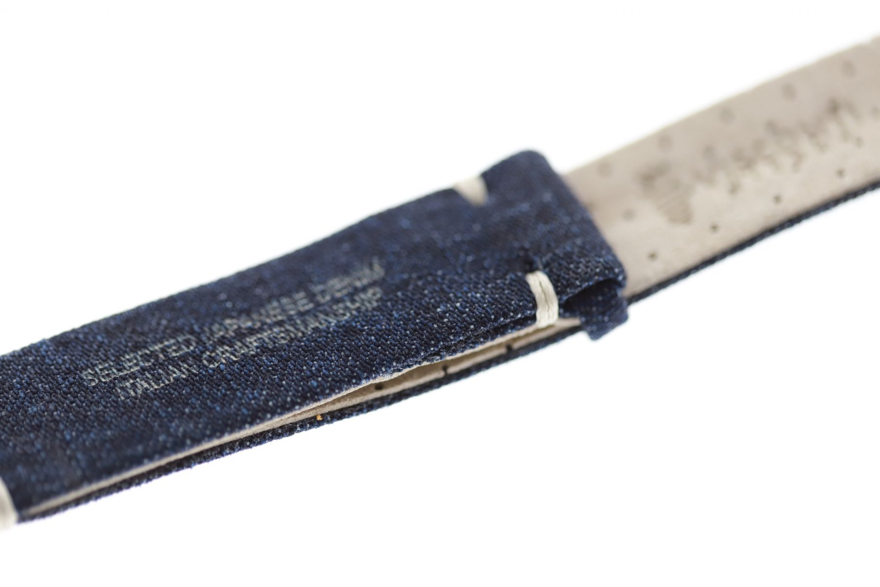NATO custom wrist watch band 20mm in Blue Sea Japanese Denim / Regular size / Vegan style