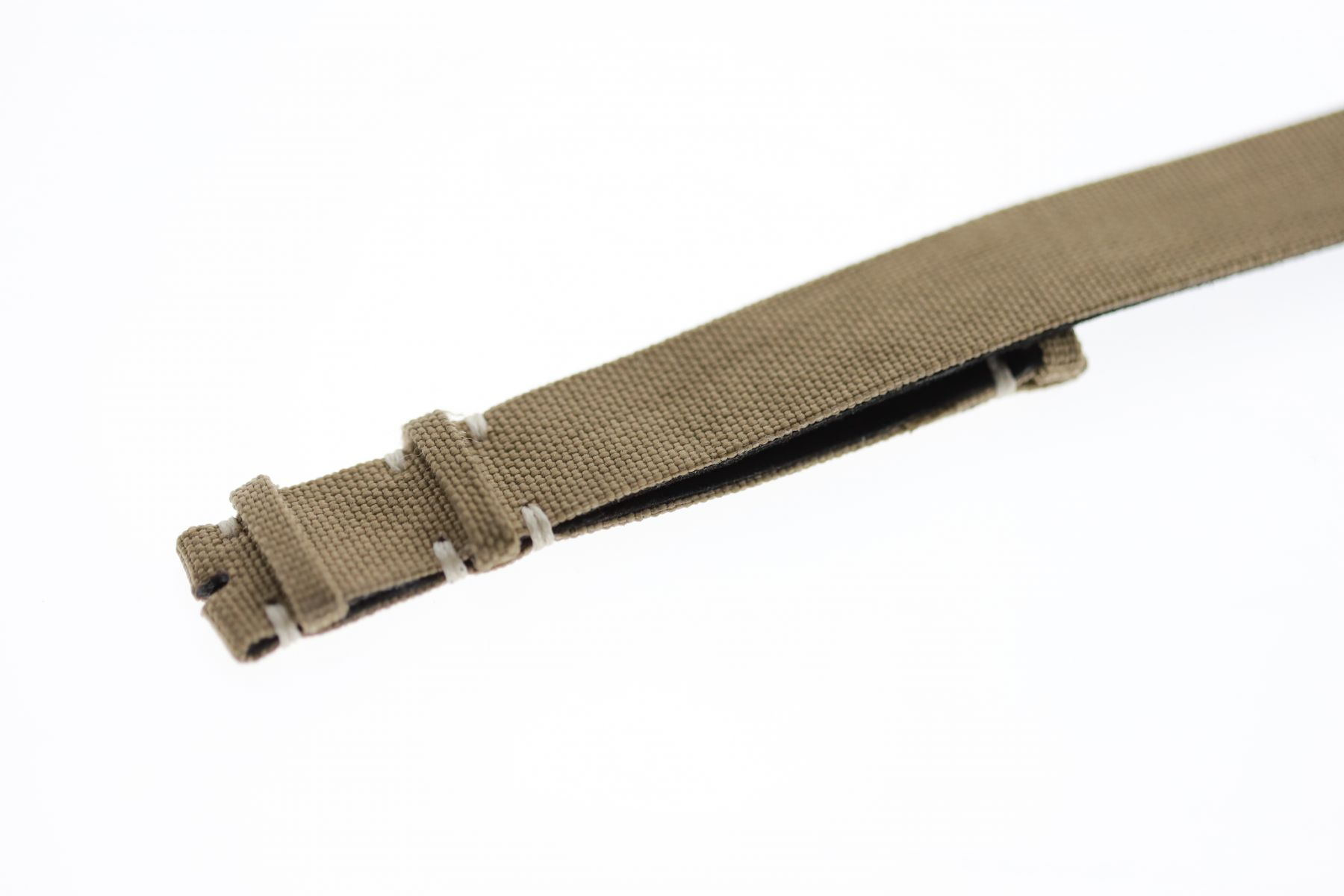 NATO custom wrist watch band 20mm in Green Khaki Cordura / Regular size / Vegan style