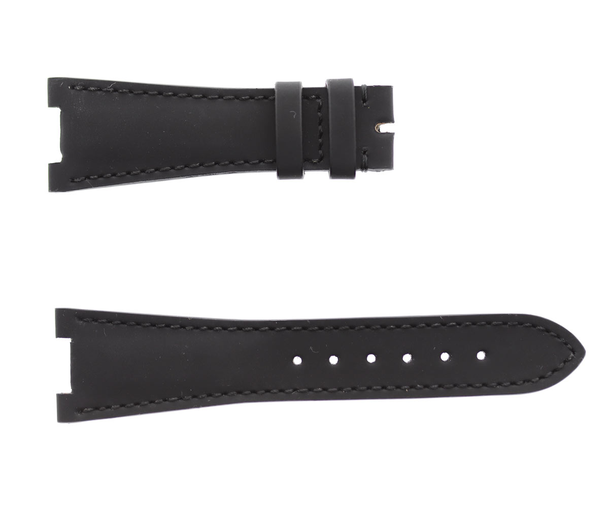 BLACK rubberized leather strap for NAUTILUS / PATEK PHILIPPE