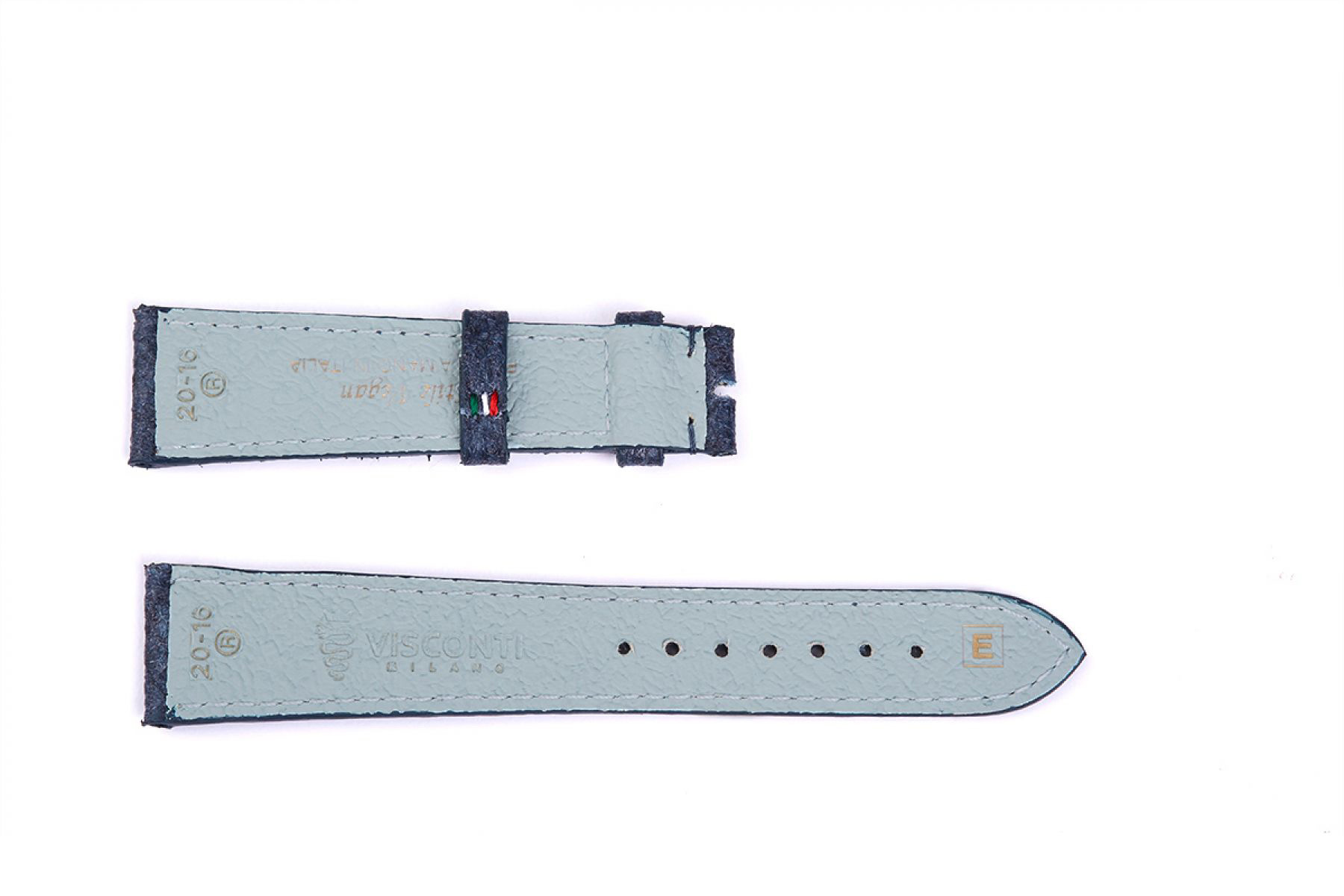 Indigo Blue Pinatex Strap 16mm, 18mm, 19mm, 20mm, 21mm, 22mm General style