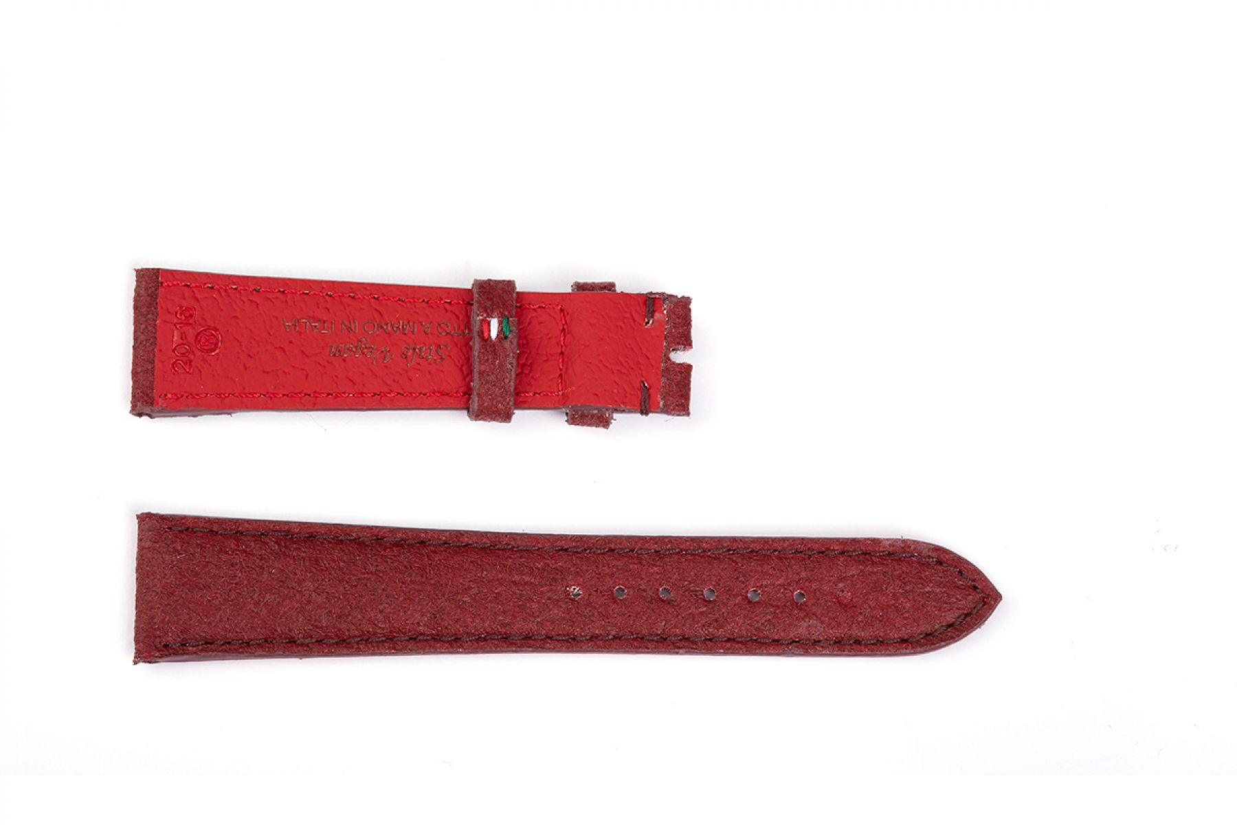 Mulberry Bordeaux Pinatex Strap 16mm, 18mm, 19mm, 20mm, 21mm, 22mm General style