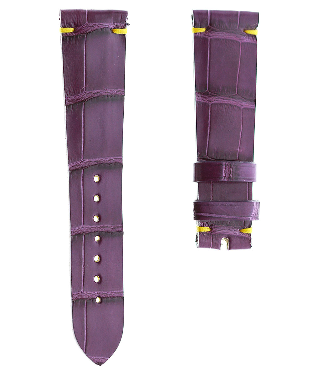 Violet Alligator leather Classic strap