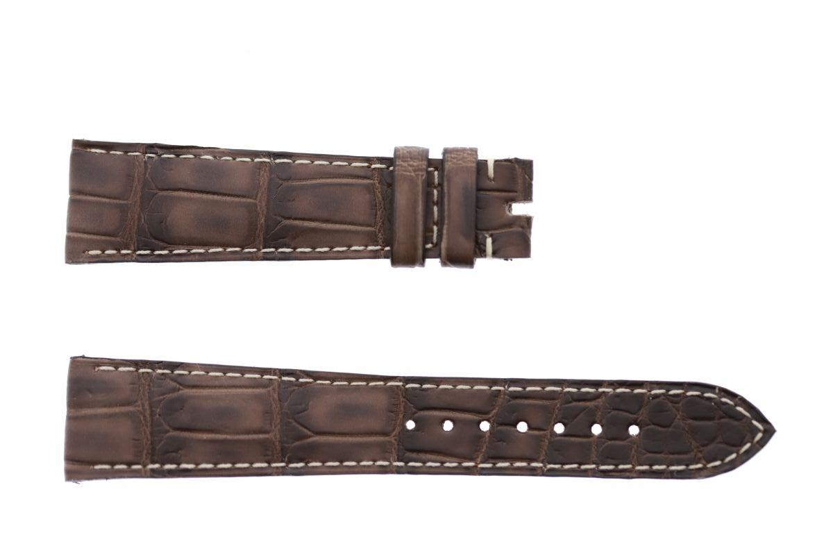 Vintage Brown Alligator leather strap 20mm Rolex Daydate, Dayjust style