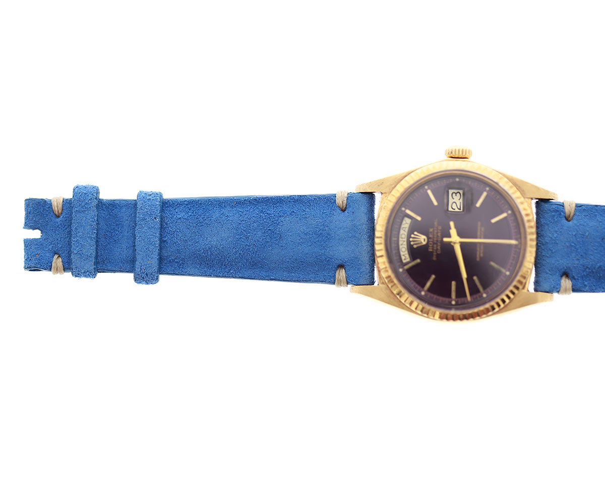Sapphire Blue Suede leather strap 20mm / Rolex Daydate, Dayjust style